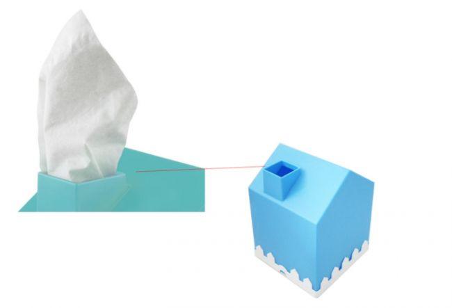 1. Kotak Tisu Bentuk Rumah Bercorong